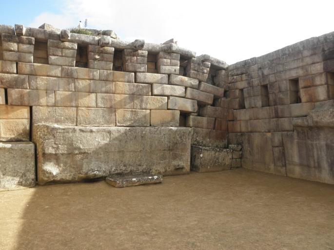 Evidence of the ground shifting below Machu Picchu.