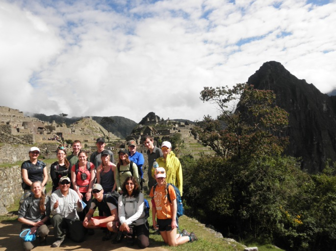 Our group overlooking Machu Picchu.