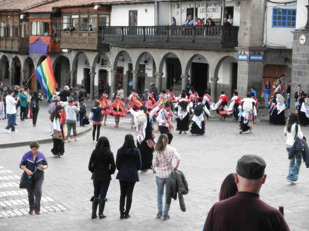 Easter celebrations in La Plaza de Armas
