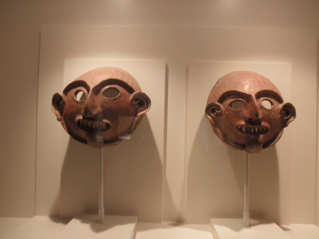 Vicus Civilization, Ceremonial Funerary Masks, 1250 BC-1 AD