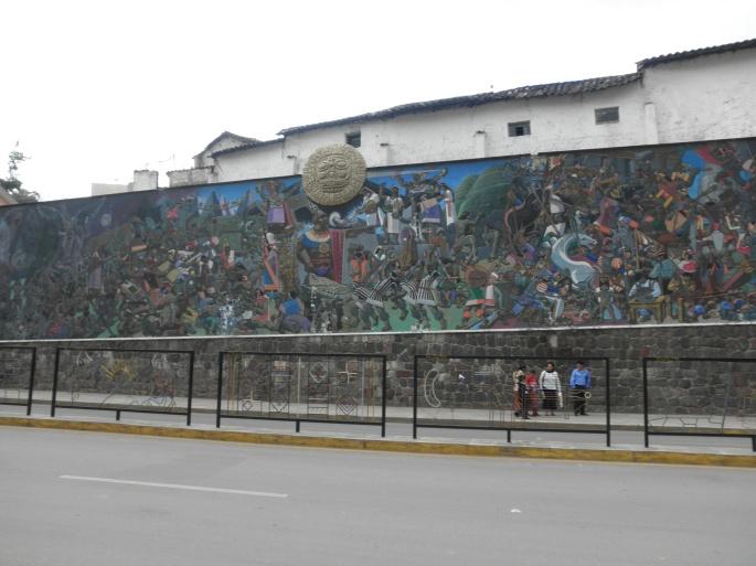 Large mural in Cusco