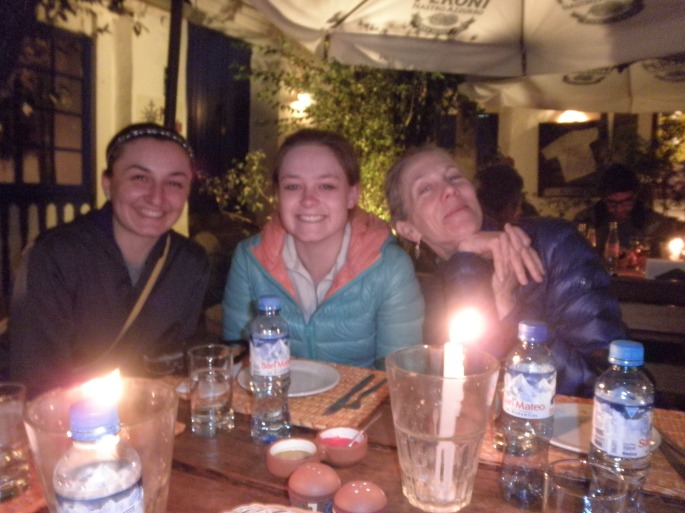 Dinner at Pachapapa (I'm in the middle)