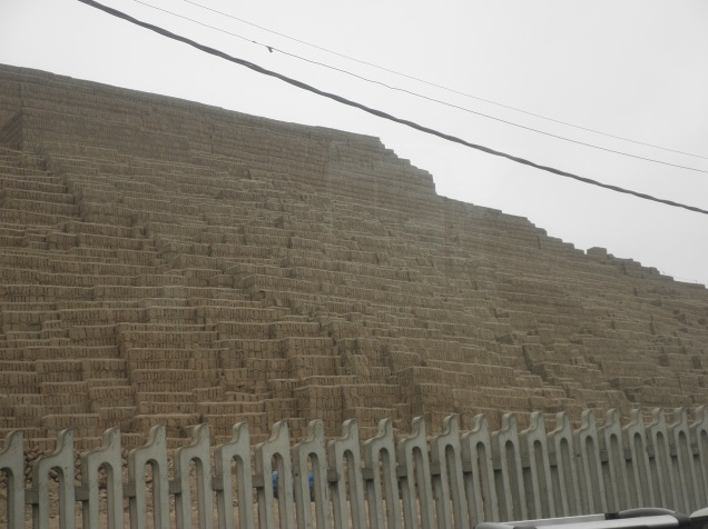 An Inca pyramid right in Lima