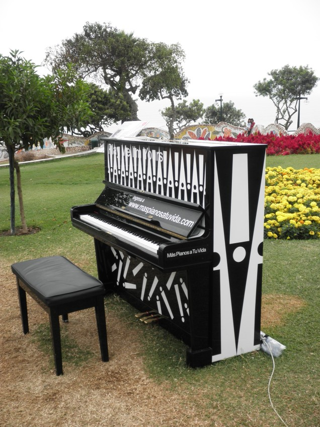 A piano in one of the parks in Miraflores