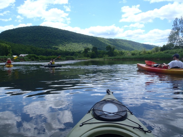 Kayaking with my brother and friends