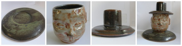 Bowl, figure mug, cover: Functional figure sculpture
