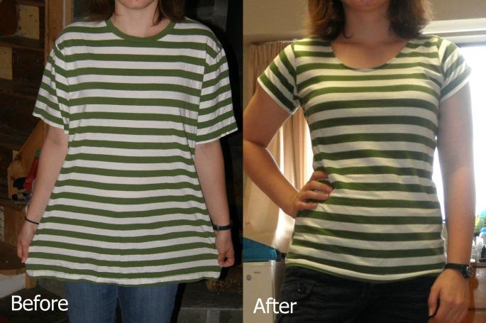 green shirt refashion