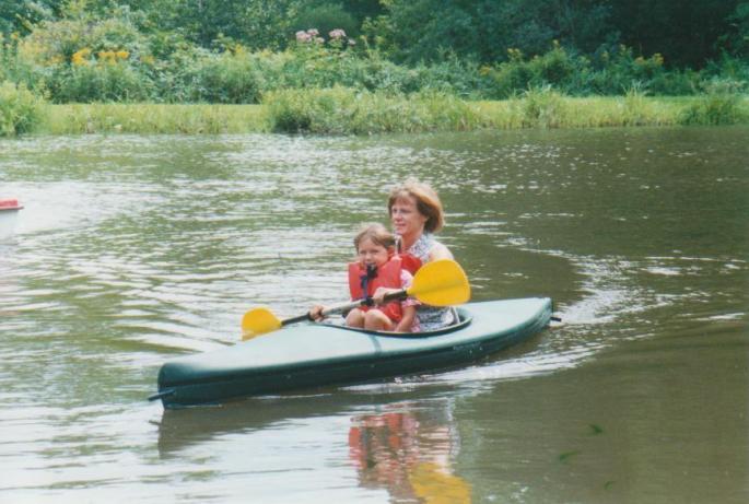 My mom and sister, circa 1999