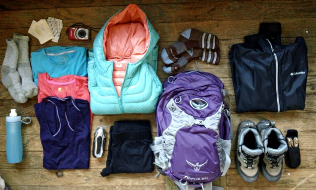 hiking gear for blog
