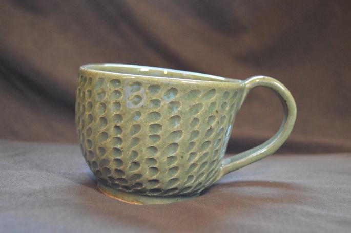 Large textured mug