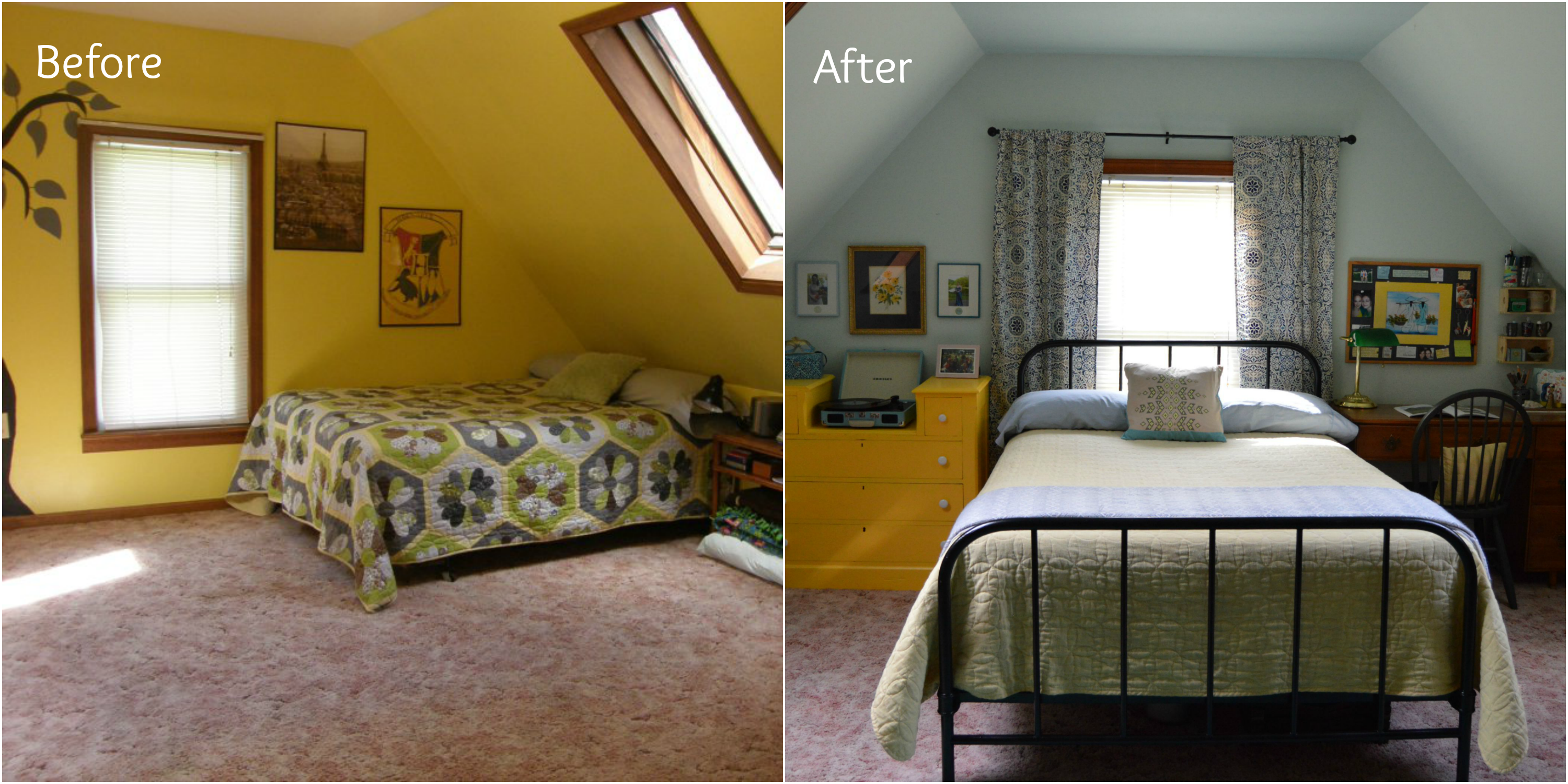 Interior decorating before and after photos - Bedroom Before And After