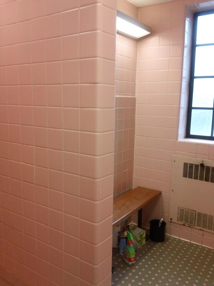 Gloodbye to my pink tiled campus bathroom!