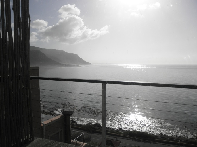 The view from our apartment in Fish Hoek