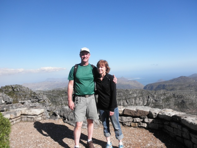 My parents on the top of Table Mountain