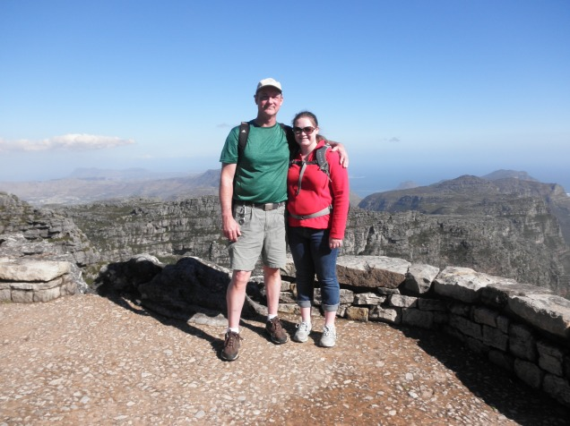 My dad and I on the top of Table Mountain