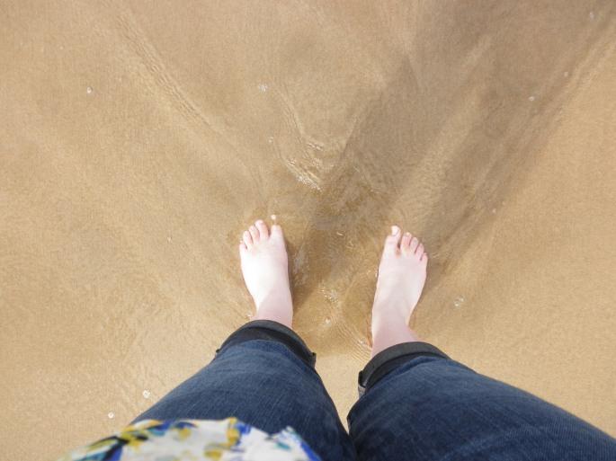 Wilderness Beach (first steps in the Indian Ocean!)