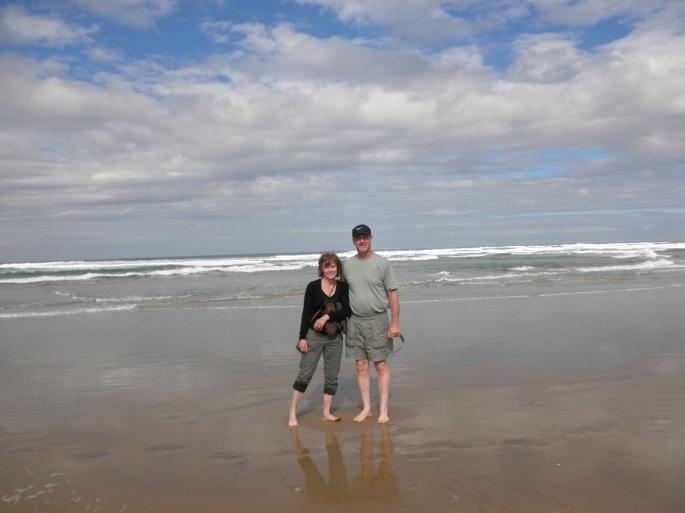 My parents at Wilderness Beach
