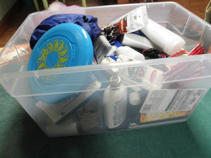 """All the """"other"""" stuff I'll need to fit- toiletries, odds and ends, and other necessities (and wants)"""