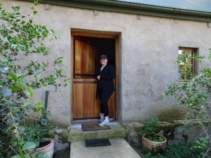 Me in front of the cottage- here you can see the size of the Dutch door a little better