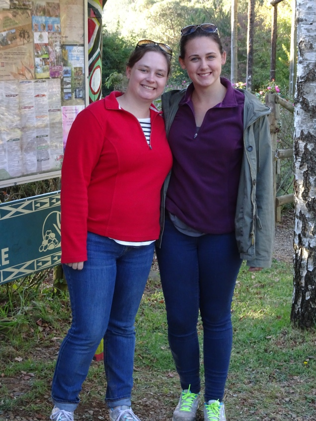Me and my sister after our hike in Hogsback