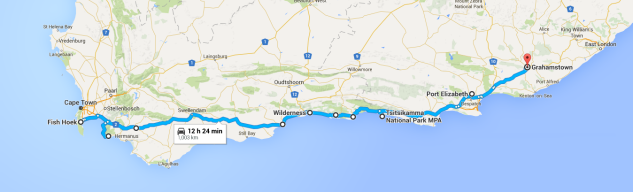 south africa road-trip route