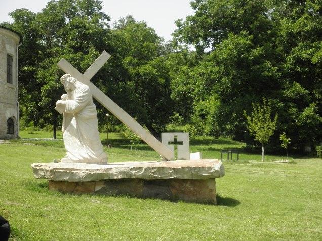 On the grounds of Sfantul Nicolae Monastry