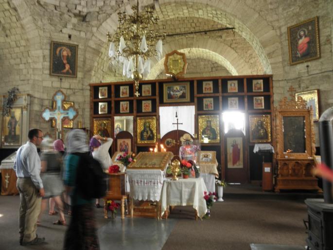 The altar at Sfantul Nicolae Monastry