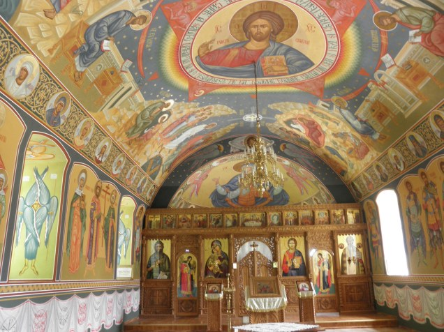 The above-ground sanctuary at the second church at Sfantul Nicolae Monastry