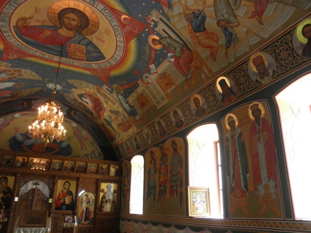 The above-ground sanctuary at Sfantul Nicolae Monastry