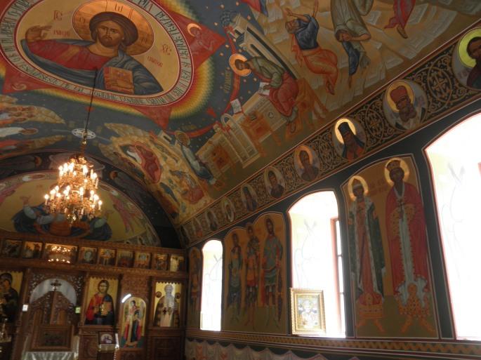 The above-ground sanctuary at Sfantul Nicolae Monastry
