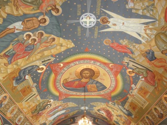 Gorgeous ceiling at Sfantul Nicolae Monastry