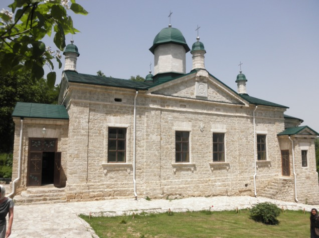 The stone church at Sfantul Nicolae Monastry