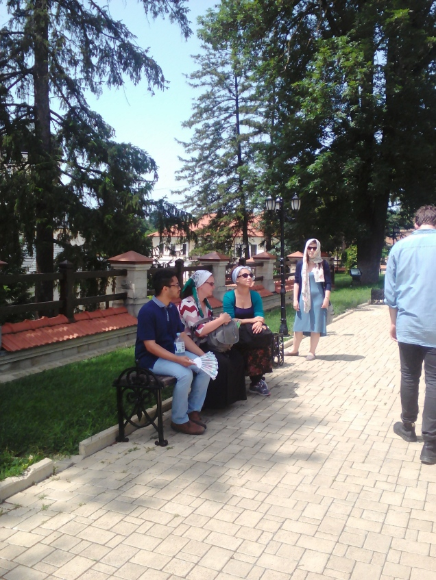 Some fellow trainees outside one of the monasteries we visited.