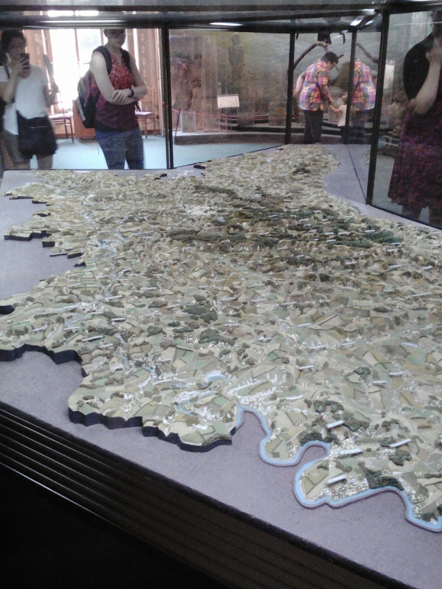 A topographical model of all of Moldova at the National Museum of Ethnography and Natural Science