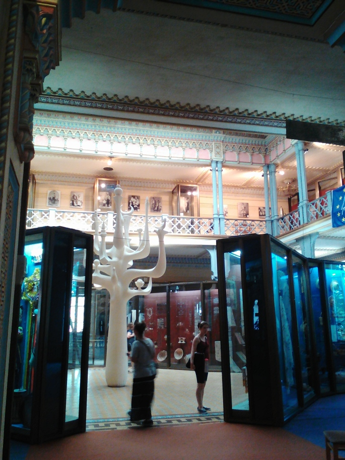 The main entrance room at the National Museum of Ethnography and Natural Science