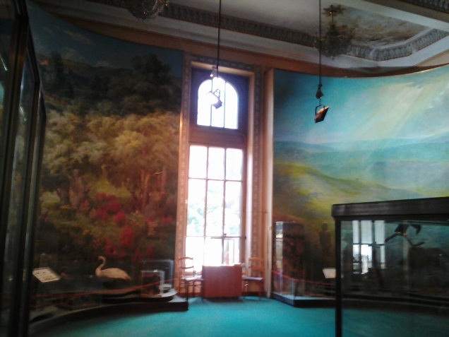 One of the beautiful murals at the National Museum of Ethnography and Natural Science