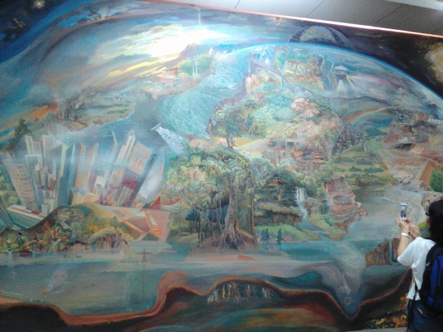 Wall #4 of the mural room at National Museum of Ethnography and Natural Science (showing the destruction of the earth by humans)
