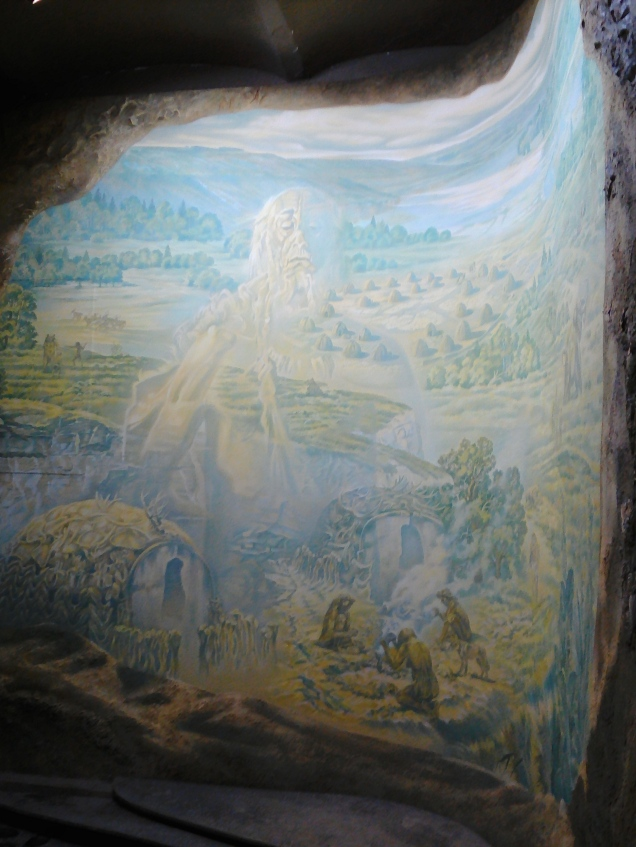 Another symbolic mural at the National Museum of Ethnography and Natural Science