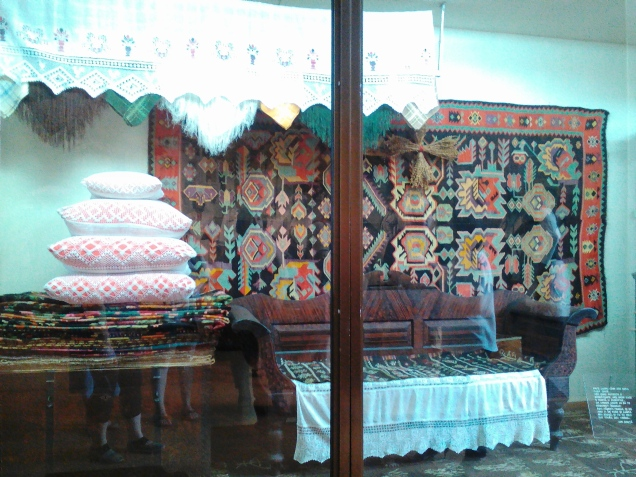 A display in the ethnography section of the National Museum of Ethnography and Natural Science, showing a traditional casa mare (a special room in the house where the dowry was kept)
