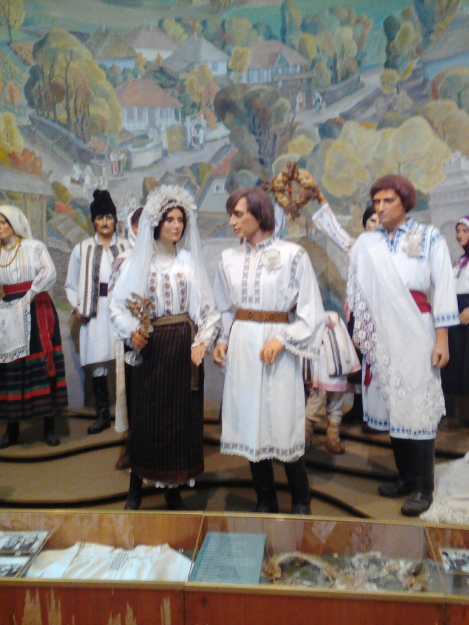 An exhibit of a traditional Moldovan wedding at the National Museum of Ethnography and Natural Science