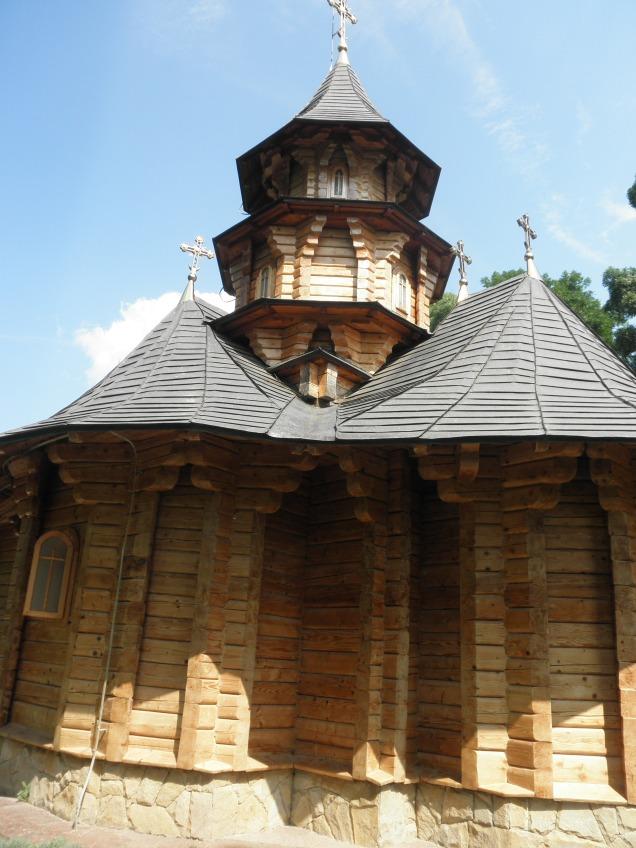 Wooden church at monastery near Festelita
