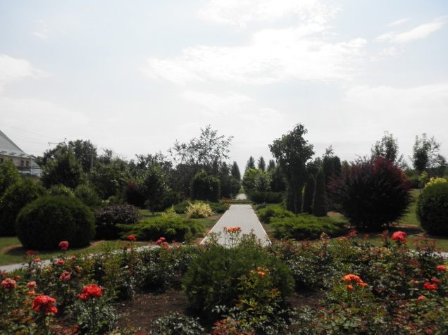 Beautiful gardens at the monastery near Festelita