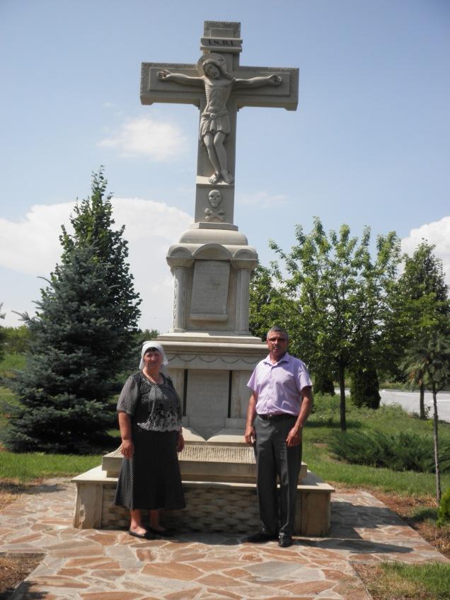 My host parents, Maria and Nicolae, at a monastery near Festelita