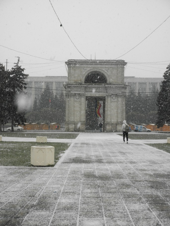 The Arc de Triomf, Cathedral Park, Chisinau