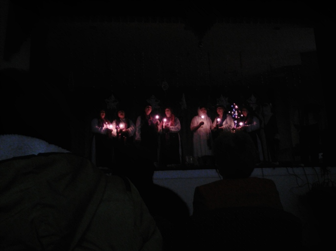 """A choral group performed a beautiful song at the """"carnival"""""""