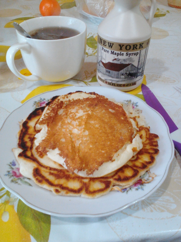 Yummy pancakes with New York Pure Maple Syrup!
